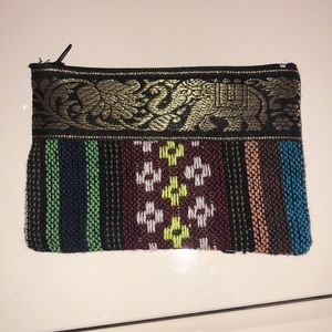 Accessories - Woven elephant card or accessories pouch